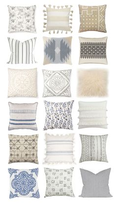 Lifestyle blogger Lexi of Glitter, Inc. rounds up 18 neutral pillows to spruce up any space. They make every room happier, more styled and pulled together.