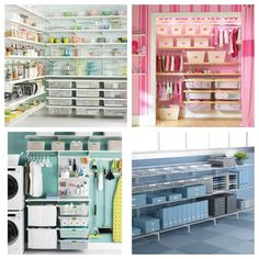 The elfa system by the Container Store is perfect for the closets, but can really fit into any room of your house to bring organizational harmony.