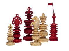 Fine Berhempore Chess Set, circa 1830