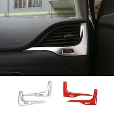 Find More Stickers Information about 2 PCS Red/Matt ABS Dashboard Left &… Jeep Cherokee 2014, Jeep Cherokee Trailhawk, Jeep Cherokee Accessories, Jeep Camping, Mazda 3, Cheap Cars, Car Accessories, Automobile, Shots