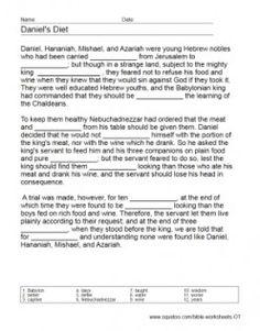 Bible Worksheets - Old Testament