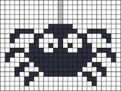 Risultati immagini per pixel art template halloween Hama Beads Halloween, Halloween Crochet, Halloween 1, Diy Perler Beads, Perler Bead Art, Hama Beads Patterns, Beading Patterns, Cross Stitch Designs, Cross Stitch Patterns