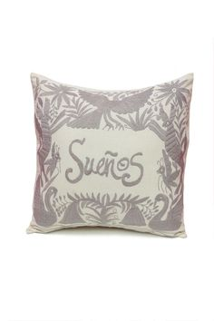 Pillowcase In Spanish Hand Embroidered Otomi Pillow  Home Is Where The Heart Is