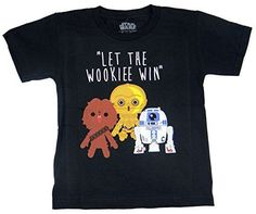 Star Wars Let The Wookie Win Kids Tshirt 7 XXLBlack ** Visit the image link more details.