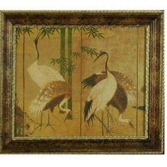 Vintage Oriental Crane Art, Exqusitely Reproduced Antique Japanese ...halkramer.com