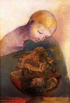 Odilon Redon(French, 1840-1916)  The Chalice of Becoming, 1894