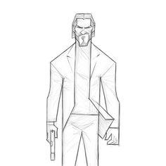 Evgeny Yurichev - John Wick Cartoon Body, Cartoon Art, Drawing Reference Poses, Drawing Poses, John Wick, Cartoon Sketches, Drawing Sketches, Beginner Sketches, Spaceship Art