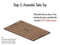 DIY Farmhouse Dining Table Plans - Step 2