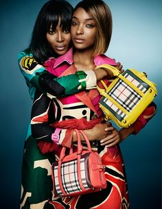 BURBERRY SPRING/SUMMER 2015 AD CAMPAIGN WITH NAOMI CAMPBELL AND JORDAN DUNN PHOTOGRAPHED BY MARIO TESTINO