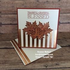 Fall Cards, Holiday Cards, Christmas Cards, Card Making Inspiration, Making Ideas, Stampin Pretty, Leaf Cards, Thanksgiving Cards, Get Well Cards