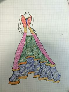 Lehnga design by me...