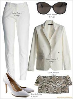 Terno branco o look básico das fashionistas