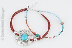 It's always time for a lovely gift! Multi strand leather bracelet, turquoise cabuchon, by ElviraKrick, €34.95 on Etsy. #LoveEtsyNL