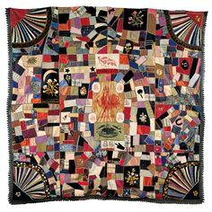 Late 19th Cent. Crazy Quilt, Unknown Artist, Folk Art Museum