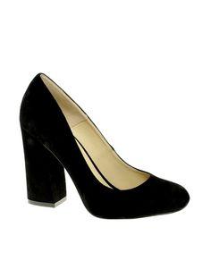 chunky suede heels