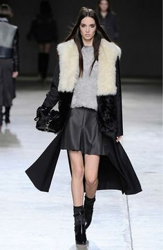 Topshop Unique Split Seam Fur Coat on shopstyle.com