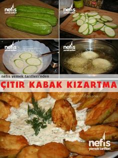 Sirkeli Kabak Kızartma Turkish Recipes, Ethnic Recipes, Food Art, Mashed Potatoes, Vegetarian Recipes, Recipies, Food And Drink, Appetizers, Yummy Food