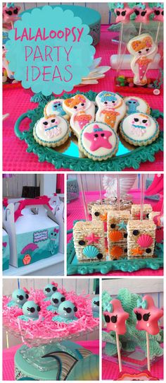 An adorable Lalaloopsy girl birthday party with fun under the sea treats! See more party planning ideas at CatchMyParty.com!