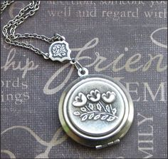 Silver Locket Necklace - Enchanted Tulips - Jewelry by TheEnchantedLocket - SWEET Daughter Mother Wife Best Friend Present
