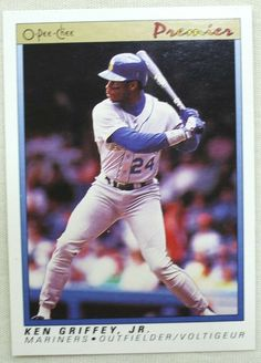 1991 O-Pee-Chee Premier Baseball 56 Ken Griffey Jr. Seattle Mariners #SeattleMariners Ken Griffey, Seattle Mariners, Legends, Baseball Cards, Store, Ebay, Storage, Shop