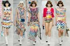 The problem with art is that you can't wear a painting. Or can you? Bright vibrant color is raw and new at Chanel Spring RTW 2014. But all the classic references are there. Camelias. Chanel#...