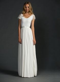 amodabridal.com.au SUPPLIES Brisbane Charming Scoop A-Line Floor-Length Cap-Sleeve Wedding Dress Wedding Dresses 2016