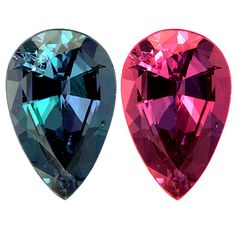 Alexandrite showing color change. Extremely rare and fine example.