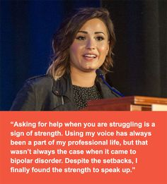 Demi Lovato encourages people with mental health conditions to speak up. #BeVocalSpeakUp