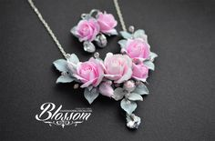Winter beauty (necklace, earrings) by BlossomHandmade.deviantart.com on…