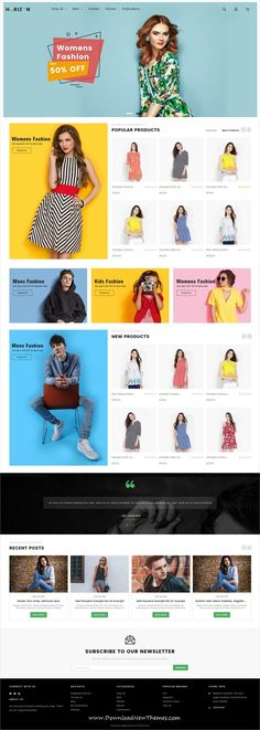 Horizon is a clean, stylish and modern design responsive multipurpose stencil #BigCommerce #template for stunning #fashion #store eCommerce website to download & live preview click on image or Visit  #webshop