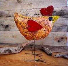 Paper Mache Bird Paper Mache Sculpture Paper Art Paper by irineART