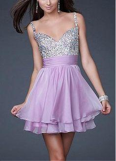 Buy discount Short Silk-like Chiffon Sweetheart Beaded Homecoming Dress #prom #dress www.loveitsomuch.com