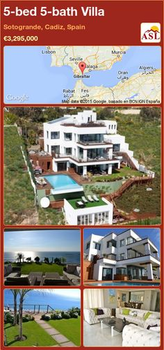 Villa for Sale in Sotogrande, Cadiz, Spain with 5 bedrooms, 5 bathrooms - A Spanish Life Security Shutters, Cadiz Spain, Best Architects, Automatic Gate, Home Cinemas, Rooftop Bar, Large Homes, Murcia
