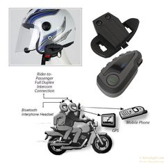 Waterproof Motorcycle Helmet Bluetooth FM NFC Remote Control Interphone for 5 Riders gift