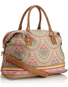 love the print! Paisley Border Weekender | Accessorize