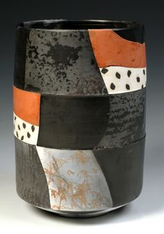 Tall Saggar Shard Pot - Irina Okula