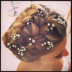 עיצוב שיער לכלות ואירועים - יפית קוריש לפרטים והצעת מחיר - 054-4536769 braid Wedding hair   #yafitkoresh #תסרוקתכלה #תסרוקת# צמות