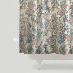 Multicolor Paisley Shower Curtain | World Market $29.99