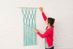 Macra-make a Gorgeous Macrame Wall Hanging via Brit + Co