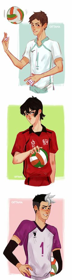 Keith / Lance | Shiro *crossover HAIKYUU!!*