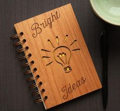 This beautiful wooden spiral notebook is waiting to capture your bright idea! A unique stationery item that makes a great gift to yourself or to that special so