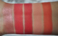 Inglot Eyeshadows - From left to right: S48, DS495, AMC50, M361, S29 #crueltyfree #eyeshadow #red