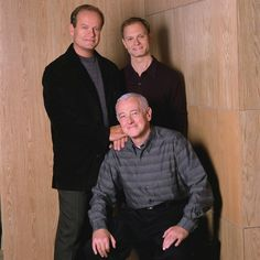 Still of Kelsey Grammer, David Hyde Pierce and John Mahoney in Frasier