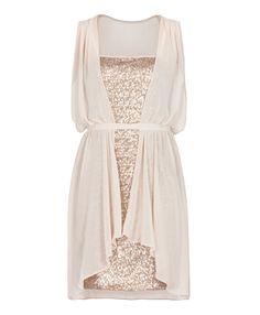 my dress <3  MAX & Co Abito in paillettes e georgette