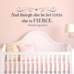 I always say I'm only going to have boys, but I'd be okay with putting this in a little girl's room. :)