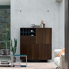 Dark wooden, elegant and minimalist 'BJ' sideboard. Beautiful design, high quality materials. My Italian Living