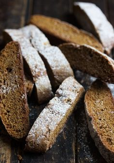Simply Perfect Crispy Gingerbread Biscotti - enjoy anytime with your coffee or perfect for gifts, as well! Ginger Bread Cookies Recipe, Cookie Recipes, Ginger Biscotti Recipe, Cookie Ideas, Best Gingerbread Cookie Recipe, Gingerbread Recipes, Gingerbread Houses, Dessert Crepes, Dessert Bars