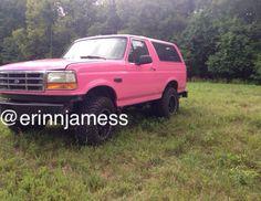 My pink bronco, PINK-E #ford #bronco #pinktruck #fordbronco #pinkbronco