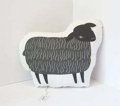 Oliver the Black Sheep Decorative Pillow by Tigersheep Friends/Sarah Walsh