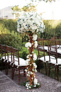 Branches and Flowers   Garden Wedding